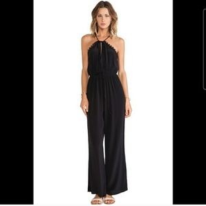 Faithfull the Brand Graceful Black Pant Jumpsuit